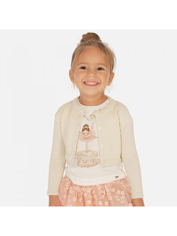 Cardigan tricot de fetita