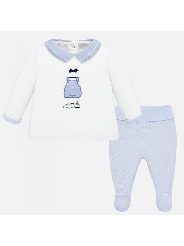 Set pantaloni cu botosei animalute bebe baiat nou-nascut