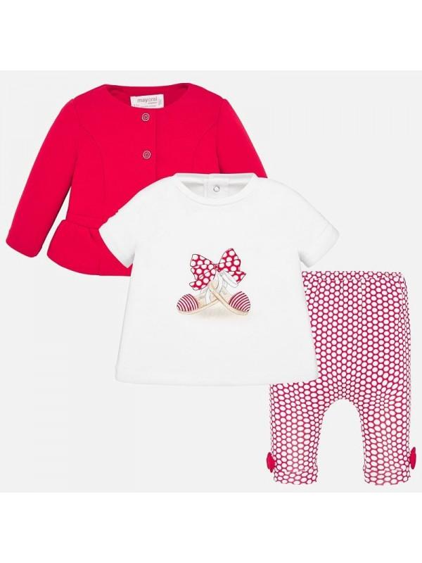 Set jacheta si leggings cu imprimeu bebe fetita nou-nascuta