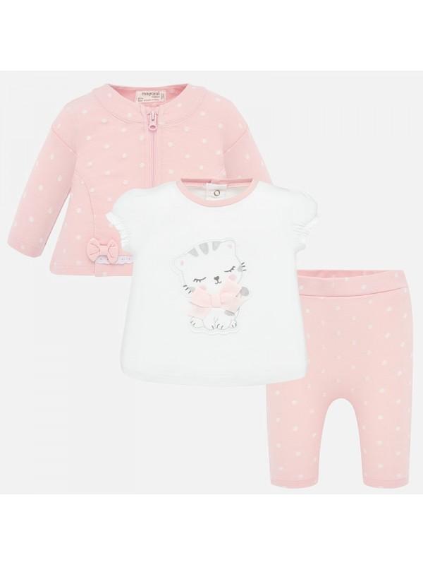 Trening cu tricou bebe fetita nou-nascuta