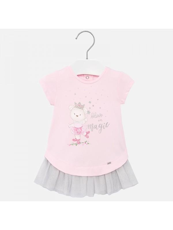 Rochie cu tul bebe fetita