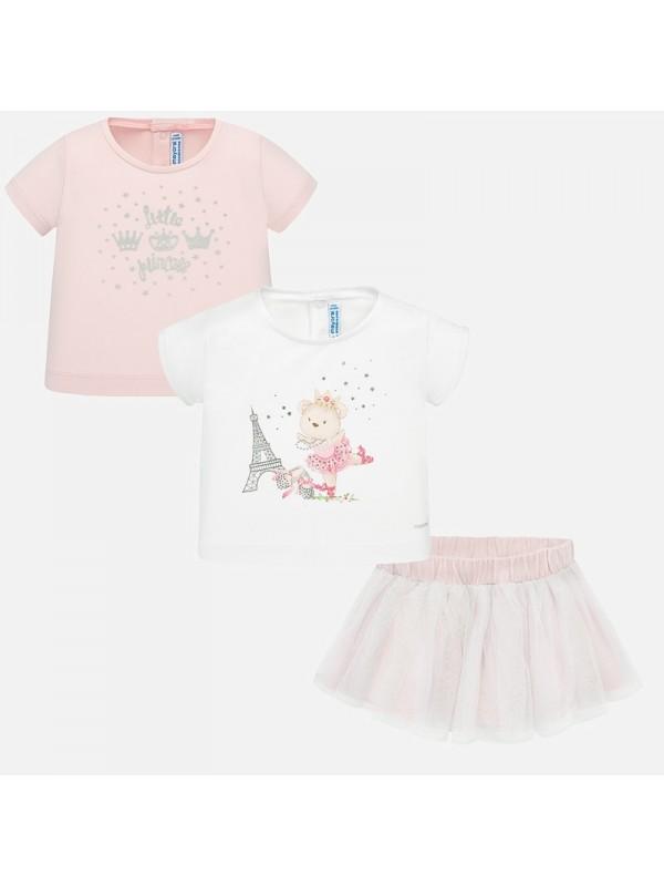 Set tricou si fusta tul bebe fetita