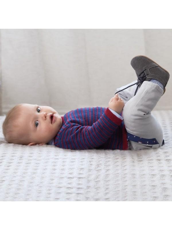 Pantaloni lungi cu bretele bebe nou-nascut