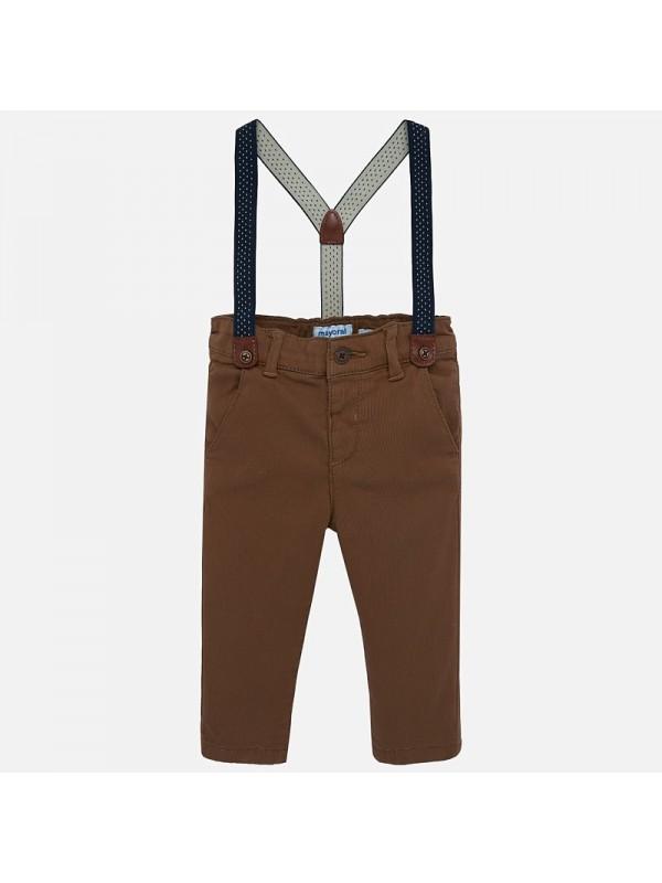 Pantaloni lungi chino bretele slim fit bebe baiat