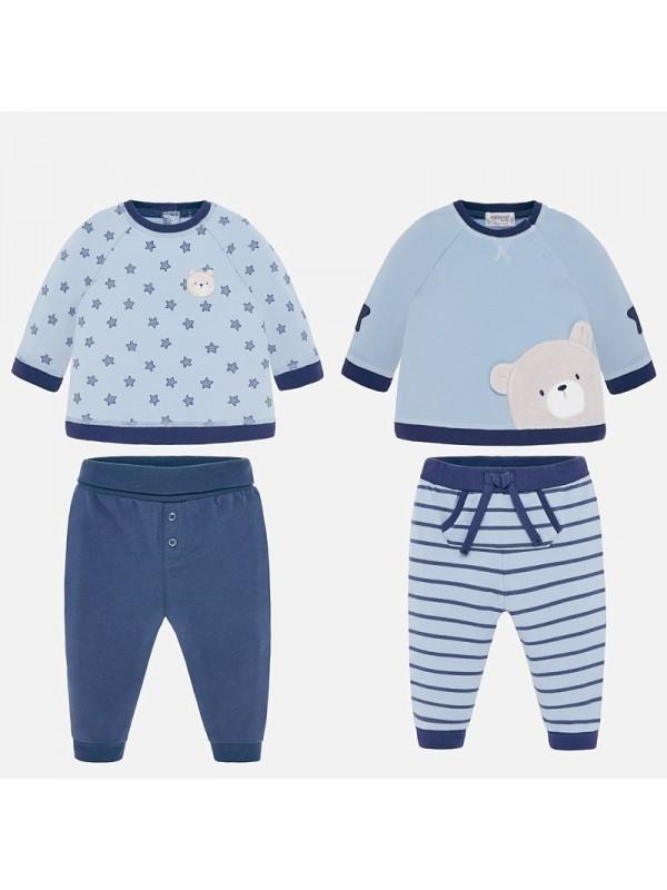 Set tricouri si pantaloni combinati bebe baiat nou-nascut