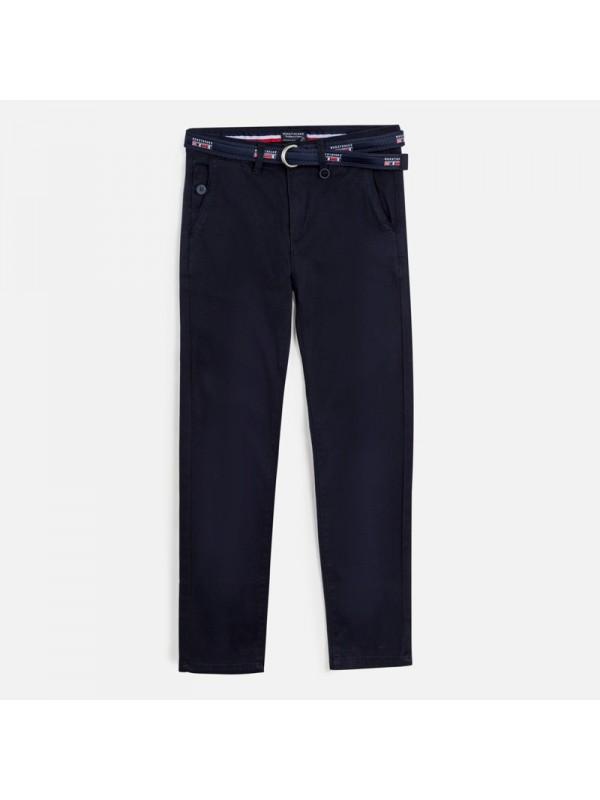 Pantaloni lungi chino pique slim fit baiat
