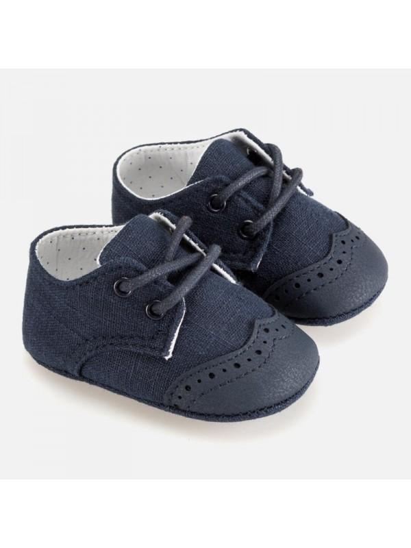 Pantofi eleganti bebe baiat nou-nascut
