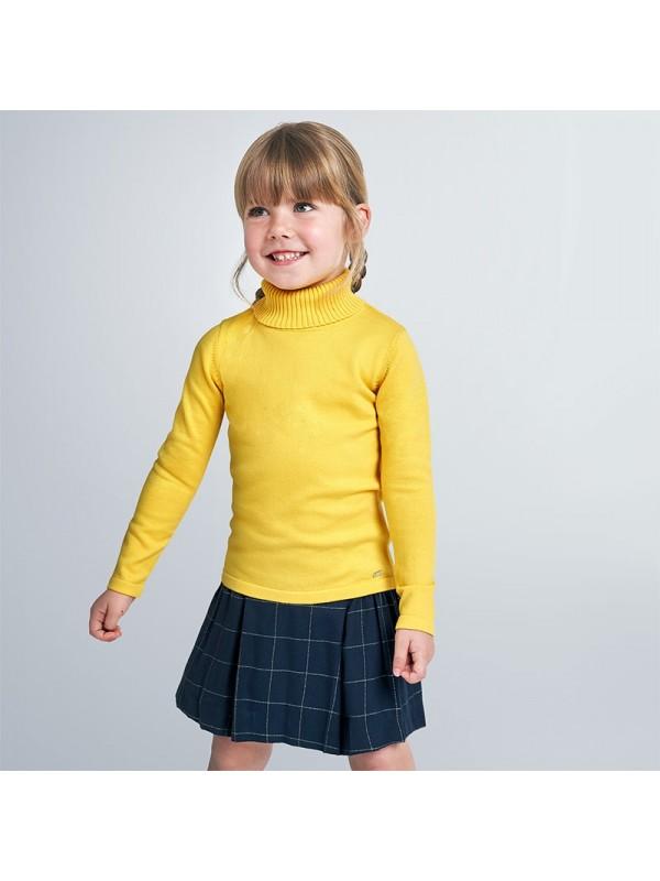 Pulover guler inalt tricot fetita
