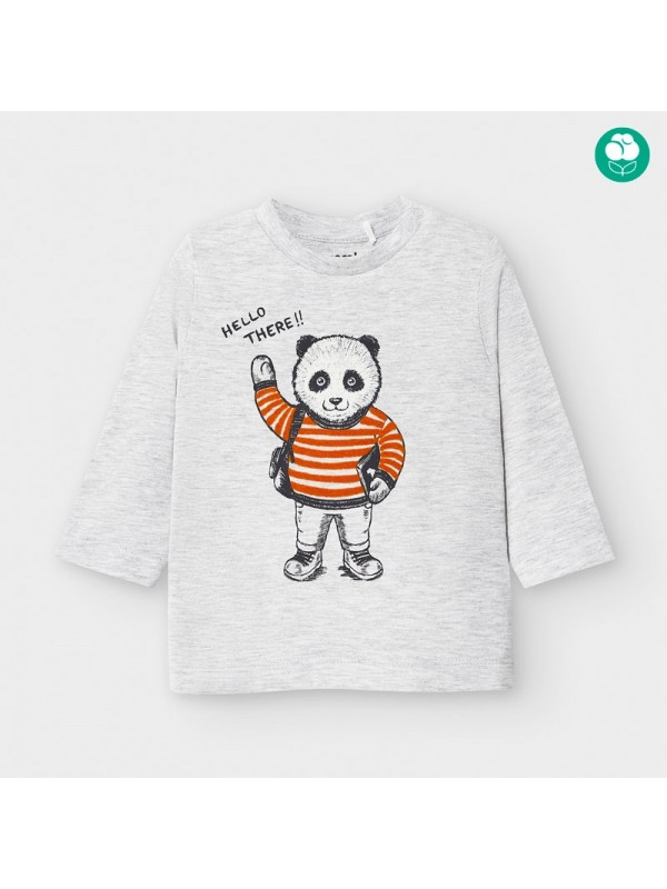 Tricou maneca lunga panda bebe baiat