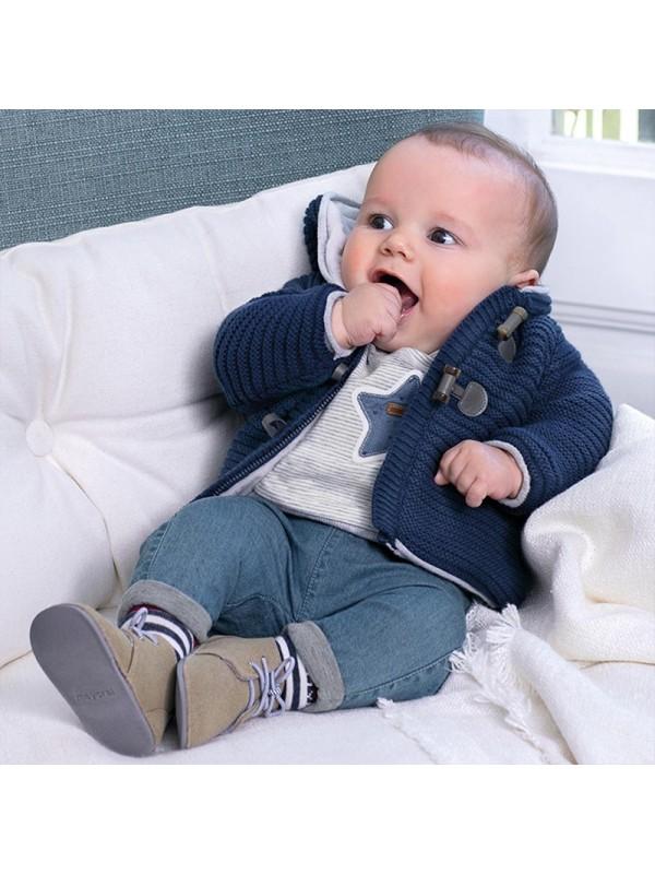 Set pantaloni si pulover plus nou-nascut baiat