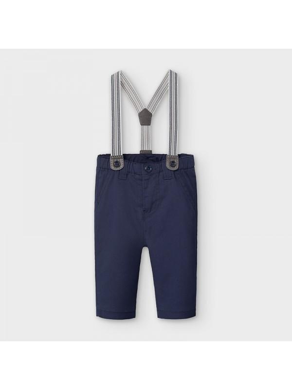 Pantaloni lungi cu bretele nou-nascut baiat