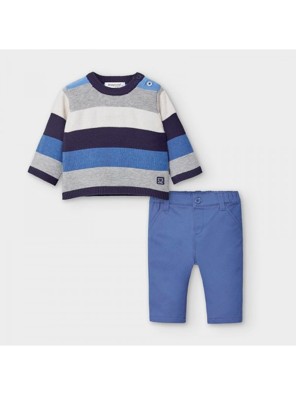 Set pulover si pantaloni nou-nascut baiat