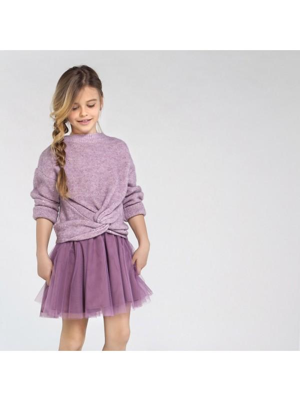 Rochie tricot combinata tul fata