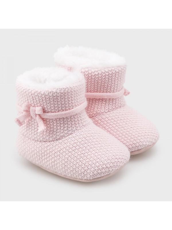Pantofi tricot new born fata