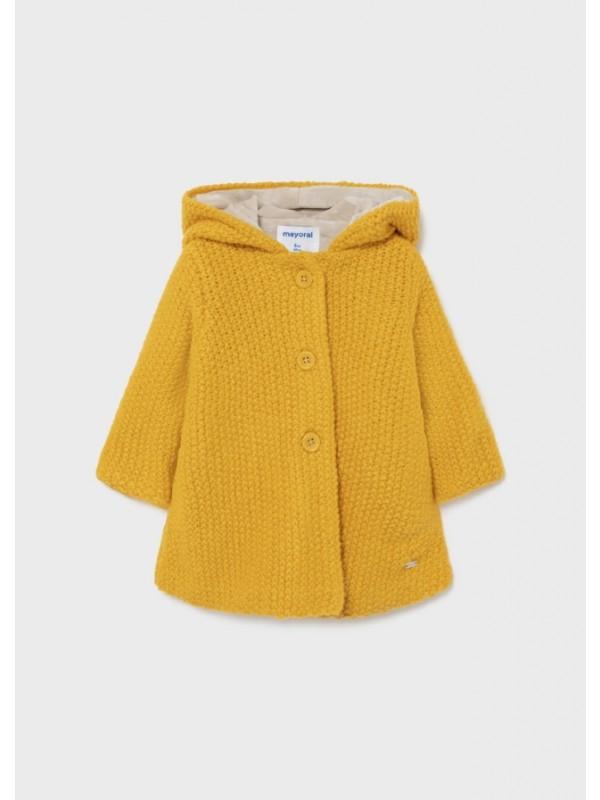 Jacheta gluga tricotata bebe fata
