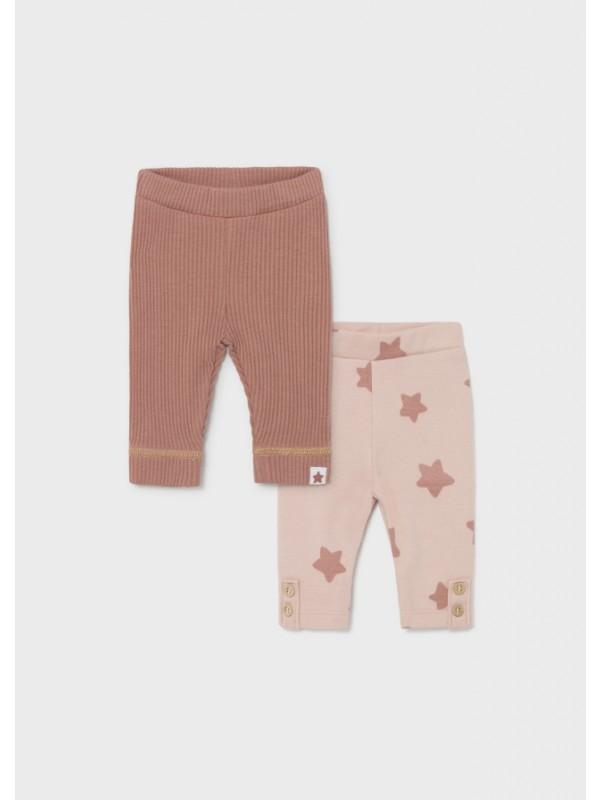Set 2 leggings nou-nascut fata