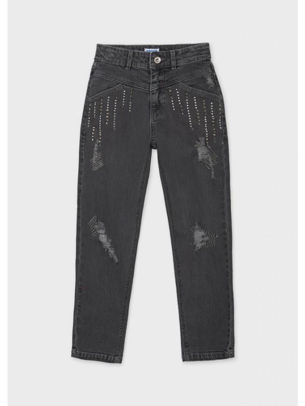 Pantaloni lungi denim slouchy fata