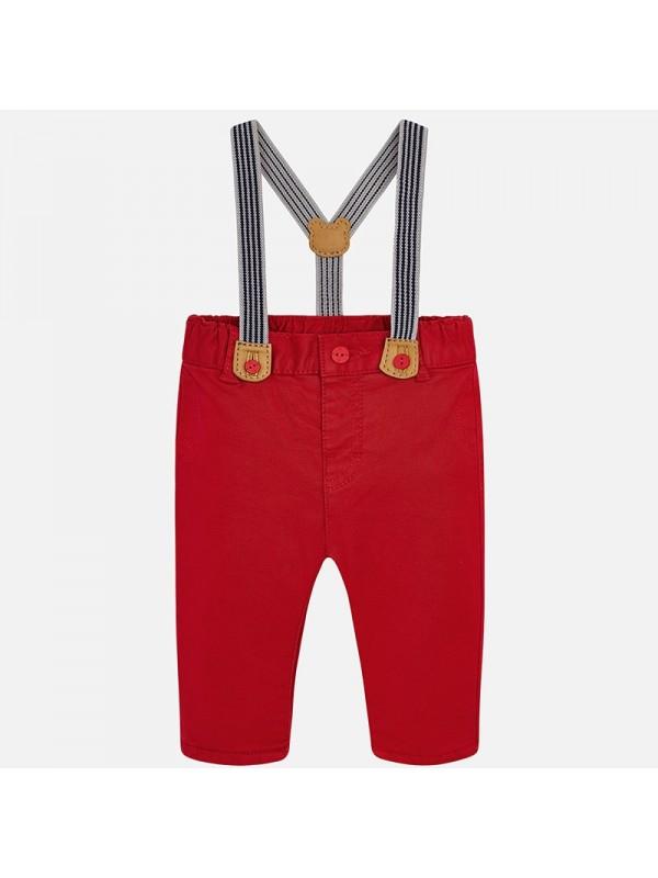 Pantaloni lungi cu bretele bebe baiat