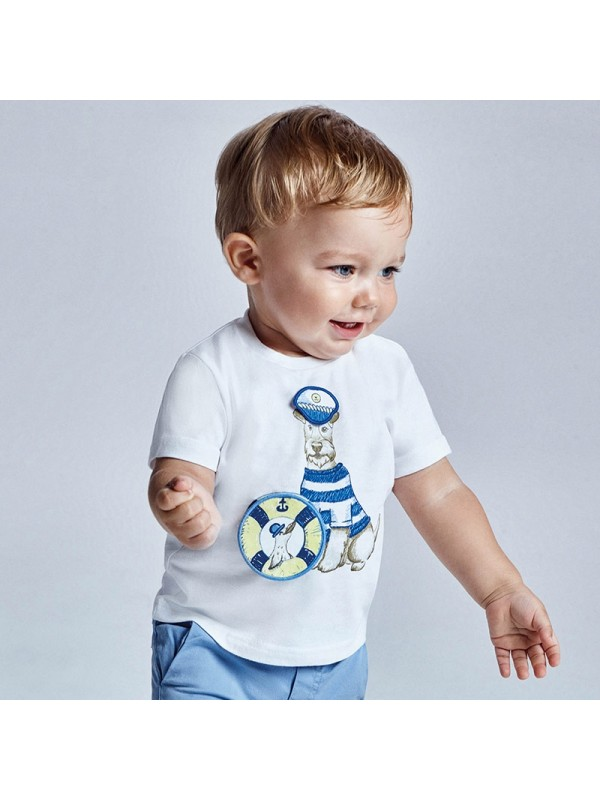 Tricou PLAY WITH imprimeu interactiv bebe baiat