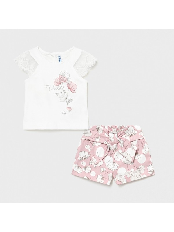 Set bermude imprimeu bebe fetita