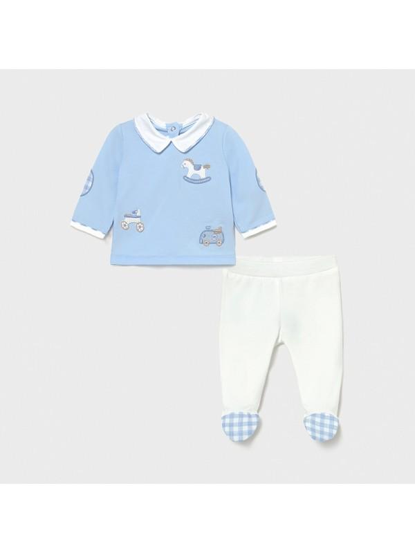 Set pantaloni cu botosei nou-nascut baiat