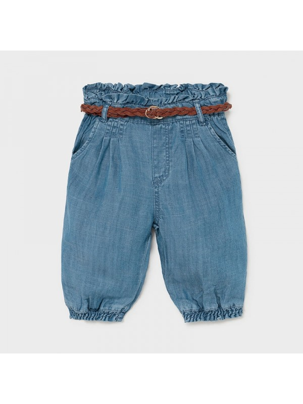 Pantaloni lungi fluizi Ecofriends bebe fetita