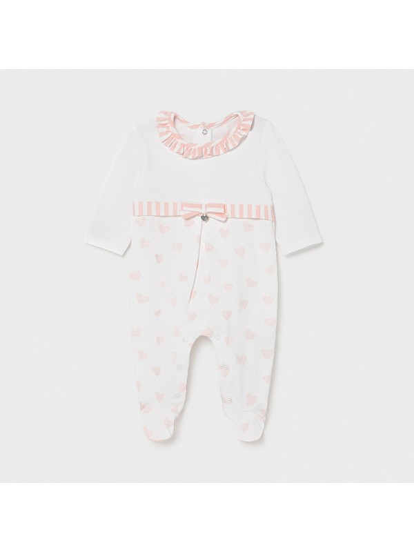 Pijama inimioare new born fata