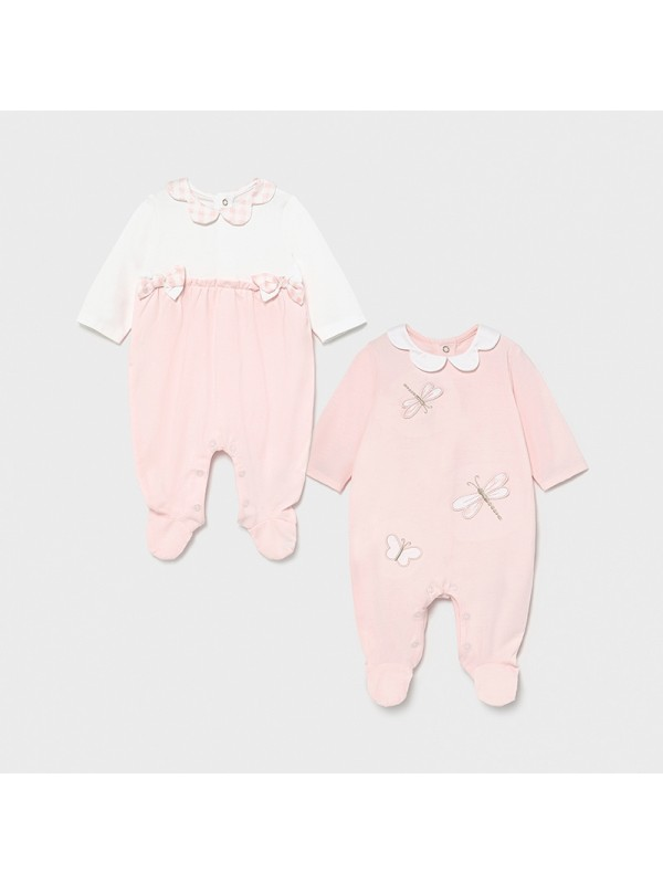 Set 2 pijamale lungi new born fata