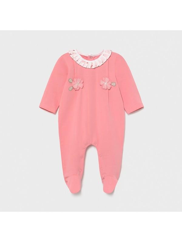 Pijama flori new born fata