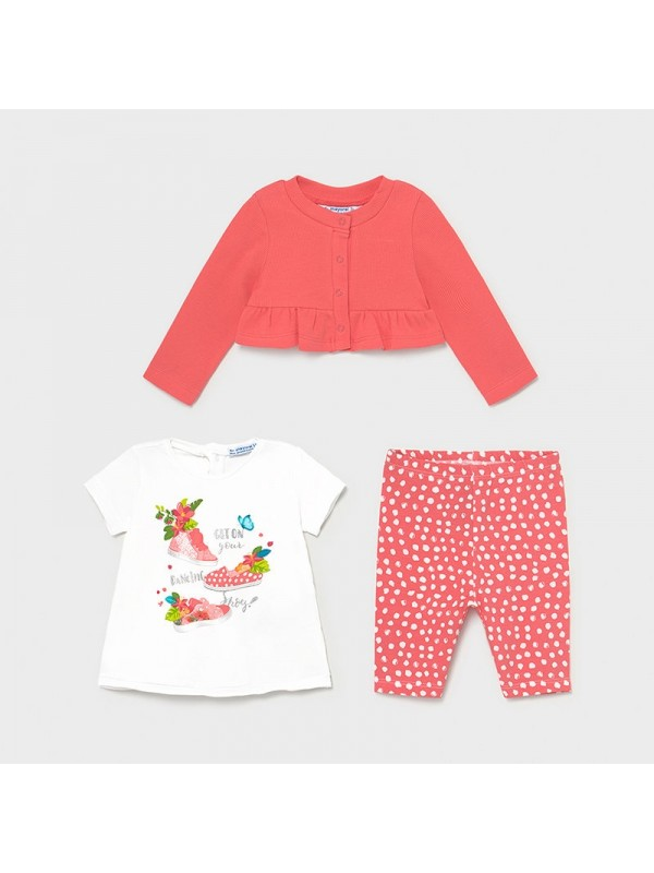 Set leggings 3 piese bebe fetita