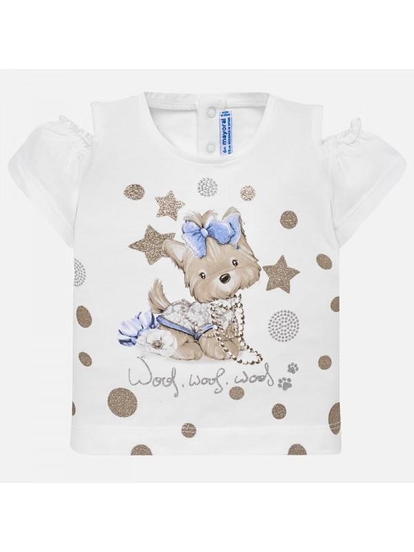 Tricou deschidere umeri bebe fetita
