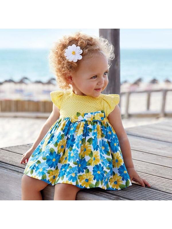 Rochie fusta imprimeu bebe fetita