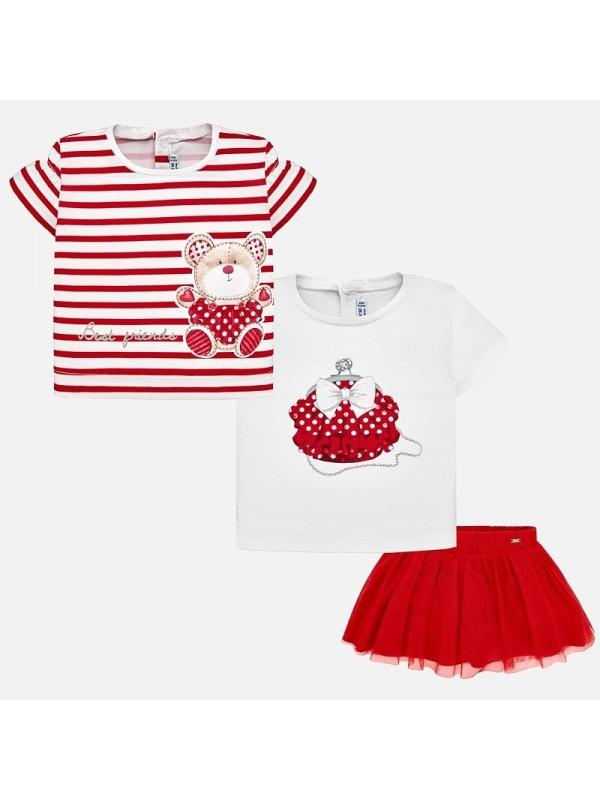 Set fusta si tricouri asortate bebe fetita