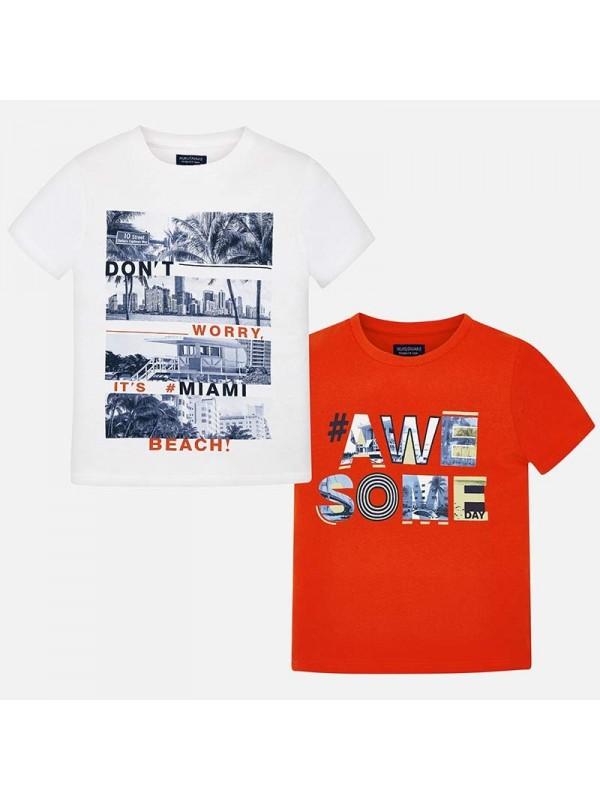 Set tricouri maneca scurta cu imprimeu baiat