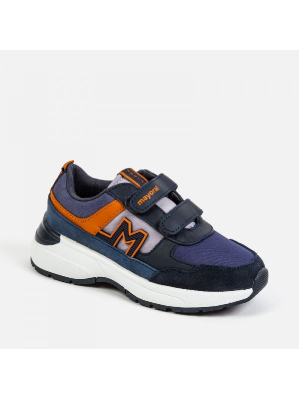 Pantofi sport tricolor baiat